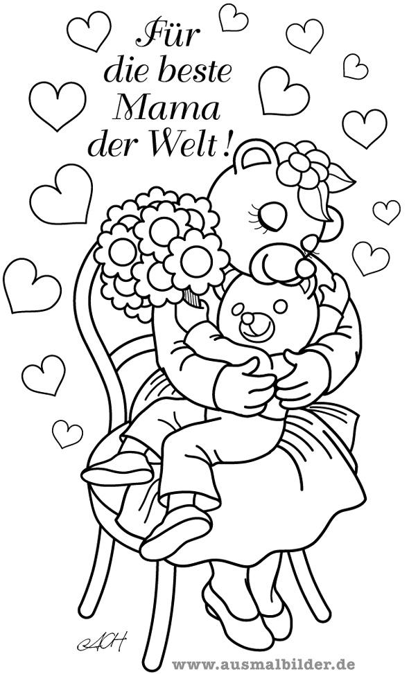 Ungewöhnlich Malvorlagen Für Mütter Geburtstag Bilder - Entry Level ...
