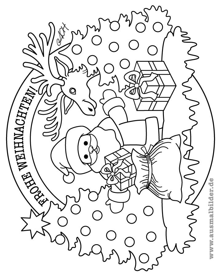 frohe weihnachten ausmalbilder weihnachten